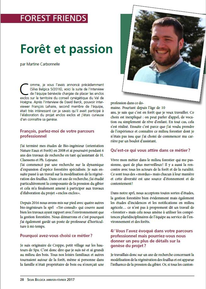Interview SylvaBelgica Francois Lehaire1