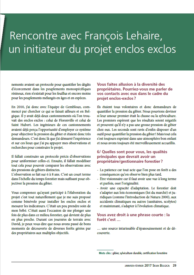 Interview SylvaBelgica Francois Lehaire2